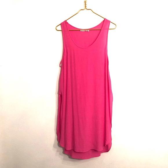 Lush Tops - [Lush] Bright Pink Break Away Tunic - Size Large